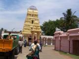raja gopuram of Rukmini Sathyabhama Sametha Venugopala Swamy of Devanhalli