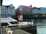Port light in Bergen Harbour