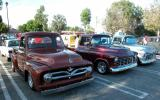 1955 Pickups(Ford & 2 Chevies) - Fuddruckers Sat. Night meet, Lakewood, CA