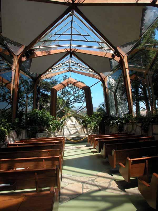 Wayfarers Chapel Glass Church - Designed by Lloyd Wright (son of FLW)