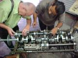 Instaling the upper shaft