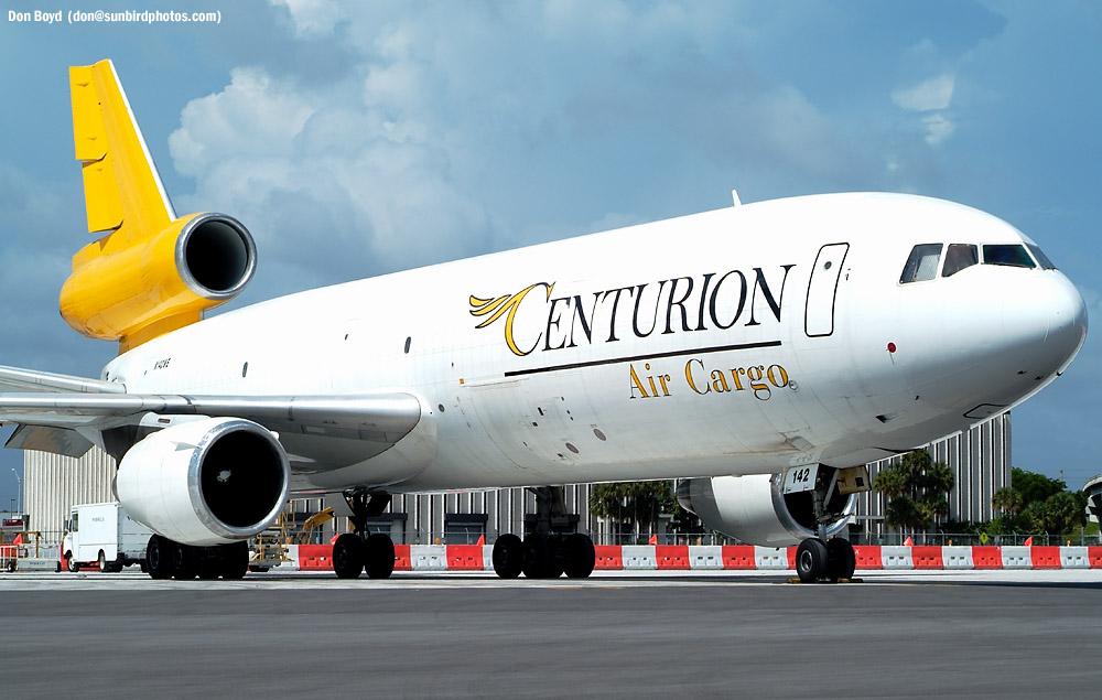 Centurion Air Cargo DC10-40(F) N142WE (ex-Challenge Air Cargo) aviation stock photo