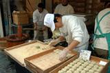 Rolling the Yomogimochi into balls