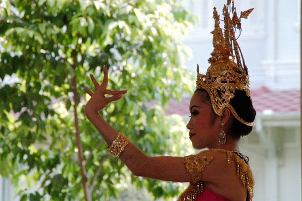 Thai classical dance presentation at the Teak Palace