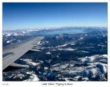 Flying over Lake Tahoe