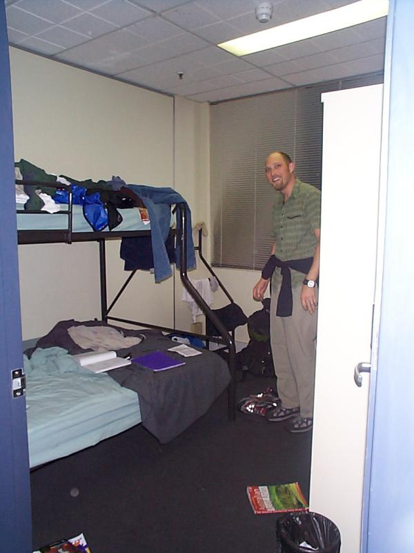 A typical hostel room...