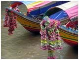 Nicely decorated boats at Si Phraya Pier