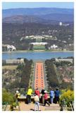Overseeing Canberra Parliament House from Mt Ainslie