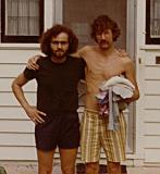 Richard (nice hair :-)) and his close friend Jim - Richard's roommate in Cambridge, MA in mid 60's (photo from the early 70's)