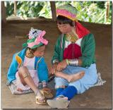 Padaung mother and daughter