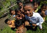 Lamno, Sumatra, Indonesia tsunami children