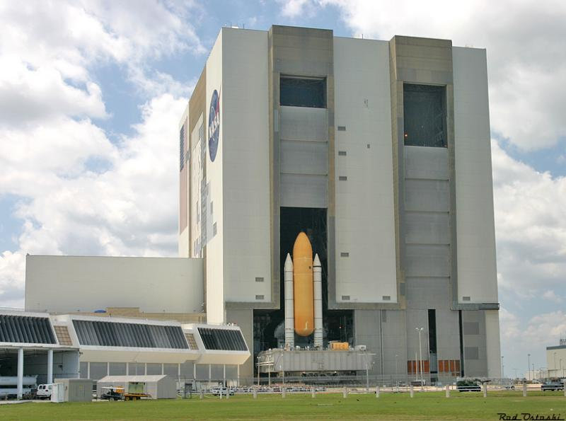 STS-114 Roll Out of VAB