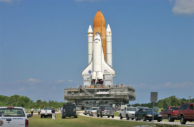 STS-114 Roll Out