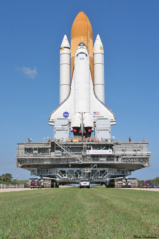STS-114 Roll Out - 9655