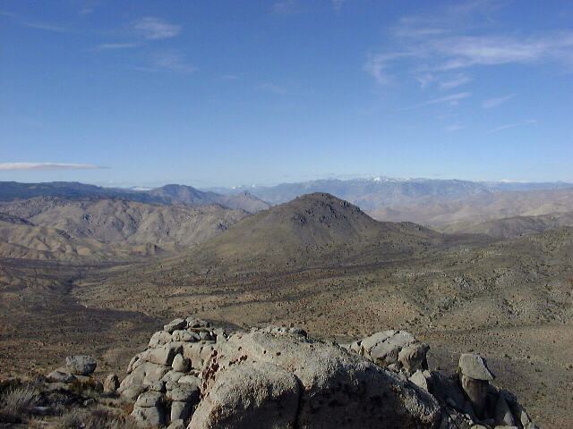 View over the Southern Sierra Nevada