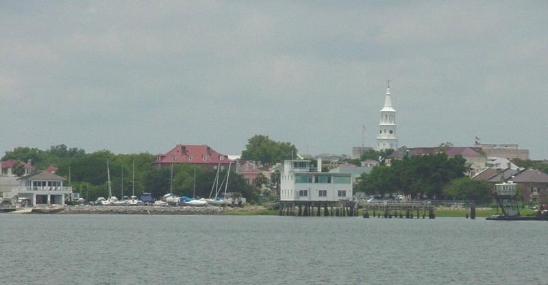 A view of Charleston from the harbor