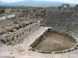 Seating was for over 10,000. Built by the Greeks in the 1st C. and enlarged by Marcus  Arelius. It later became an arena for gladiators and wild animals.