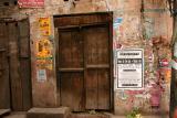door and poster