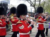 London, Guards parade
