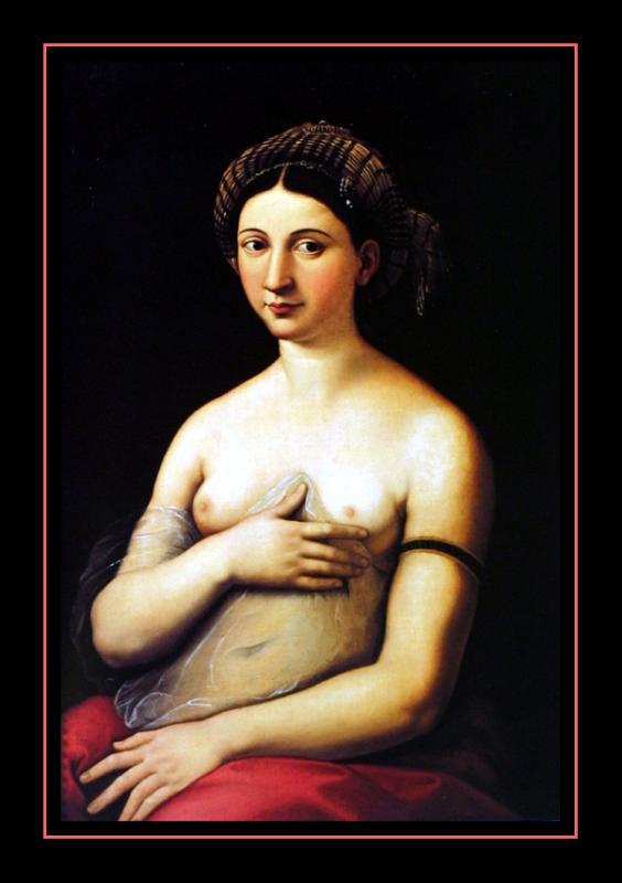 La Fornarina Borghese (1530) par RAFAËL