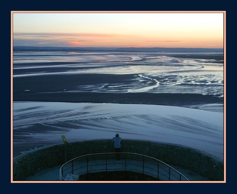 First visitor contemplating the start of a new day