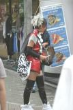 Our first OMG!  WHAT is she wearing person when we left the Shinjuku station