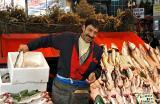 Comedian/fish seller