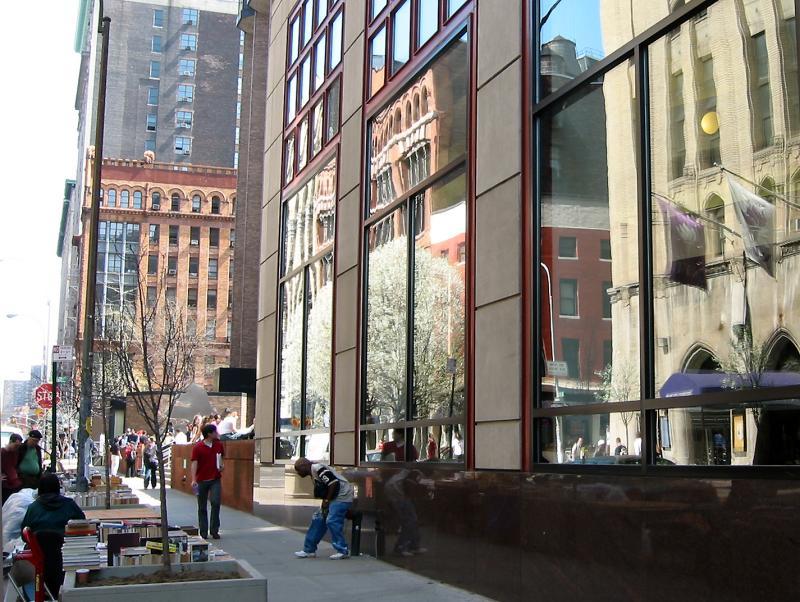 NYU Business School Window Reflections