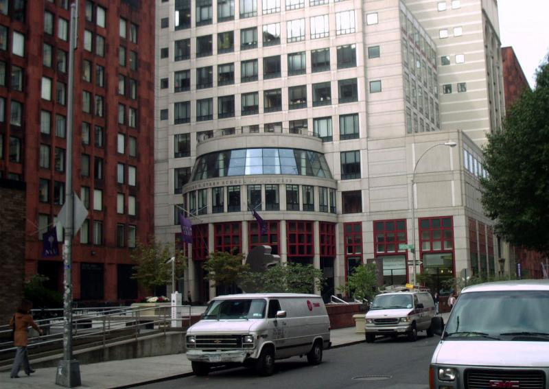 NYU Stern Business School from Mercer Street