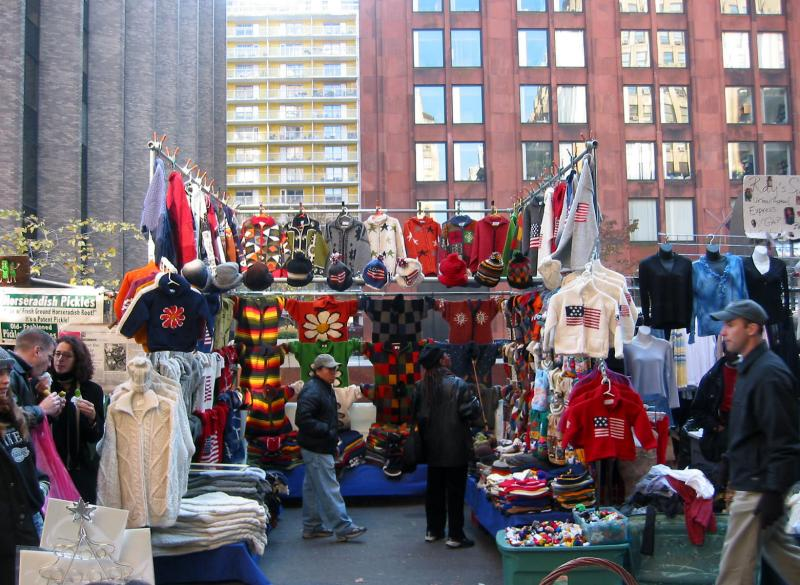 Street Fair in Front of NYUs Gould Plaza near  Green Street