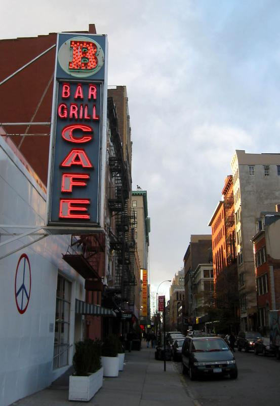 The Bar  Cafe at the Bowery with West  of 4th Street