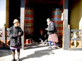 Thimpu prayer wheels