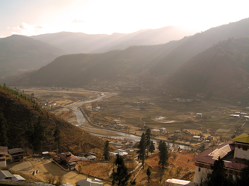 The Paro Valley, mountains are everywhere in Bhutan