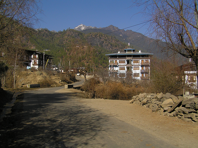An isolated village outside Paro