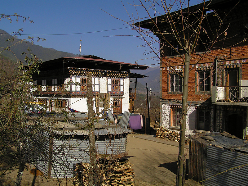 Isolated village, typical architecture