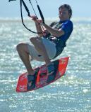 Kite surfers, Tahunanui Beach, Nelson, New Zealand