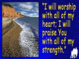 'I will worship…' slide from the latest Sidmouth series