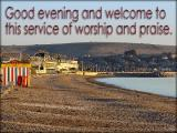 'Evening welcome' slide from the Weymouth series