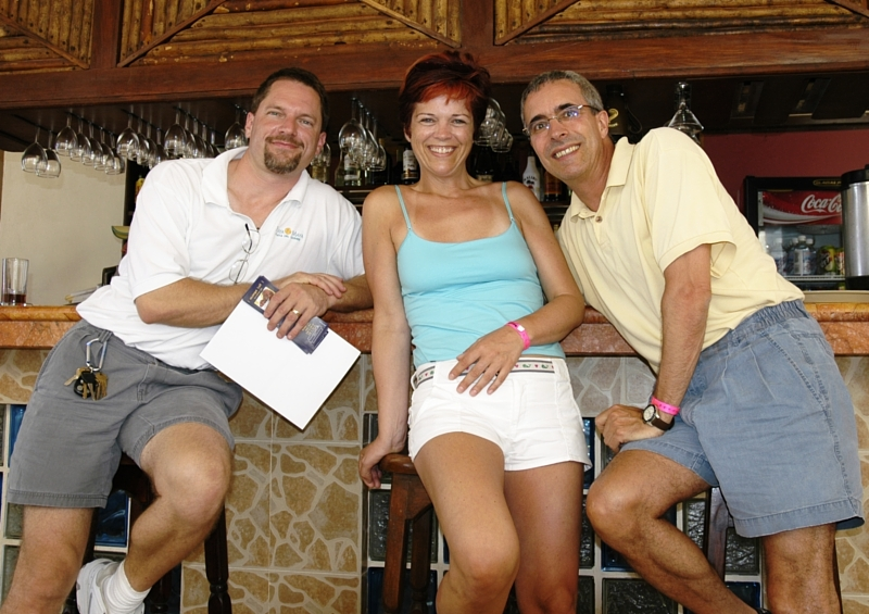 Us with Steve Ryberg, the manager of the Playa Maya Hotel in Playa del Carmen
