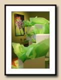 Green  (tissue in boxes)