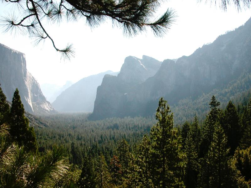 Yosemite  Valley, too crowded in Summer time