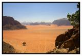 The wonderful deserted landscape of Wadi Rum in Jordan
