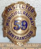 rare san francico muni inspector