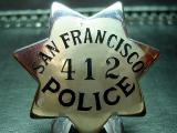 rare albert samuels jewelers sfpd badge