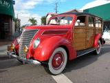 1937 Ford Woodie - Belmont Shore Car Show 2002