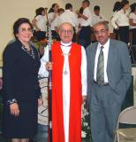 Headmistress Samira Nasser, Bishop Riah, and Palestinian Minister of Education