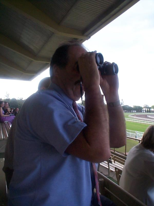 Ray watching his horse move towards #3