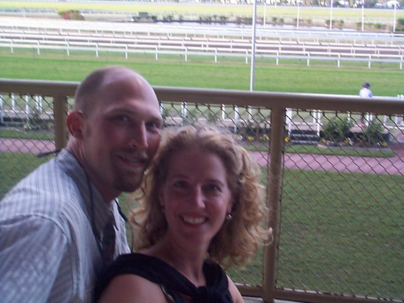Enjoying our 1st time at the track