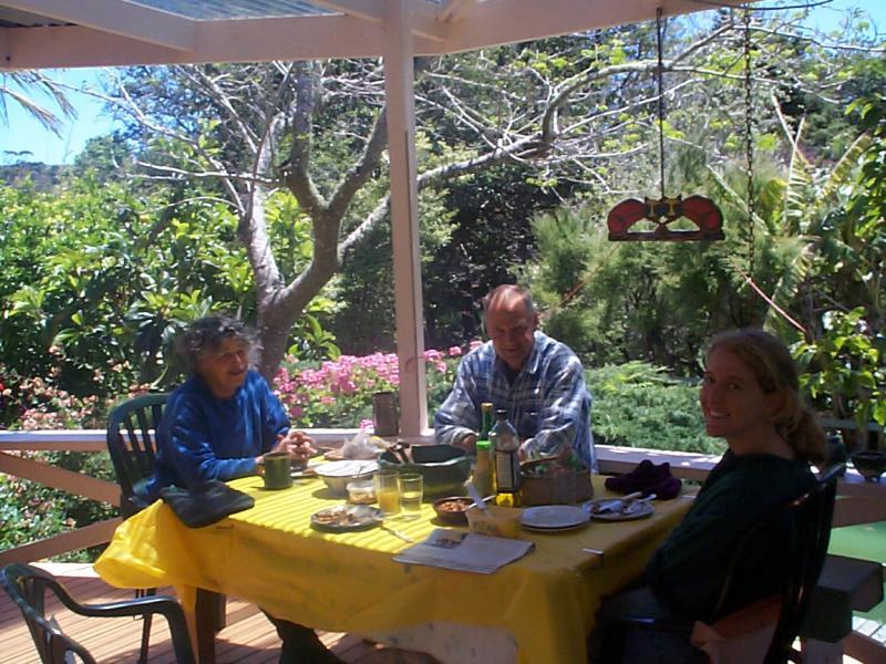 Lunch on the veranda.... mmm fresh baked bread!