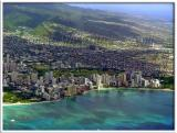 Not Maui yet.  Just leaving Oahu...  Oh look!  Waikiki Beach!